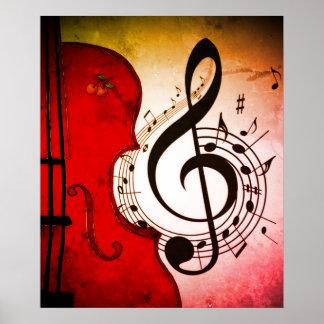 impresión del arte del violoncelo/del violín del