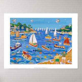 Impresión del arte: Navegación de domingo, Fowey,