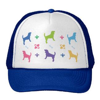 Impresión del beagle del diseñador gorra