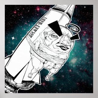 Impresión del bebé de Rocket Póster