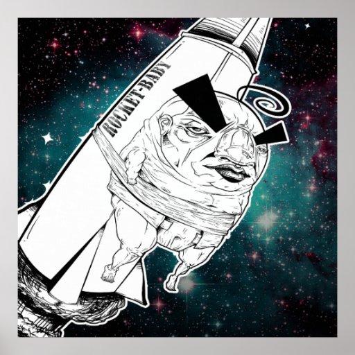 Impresión del bebé de Rocket Poster