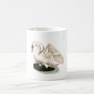 Impresión del cisne en la taza
