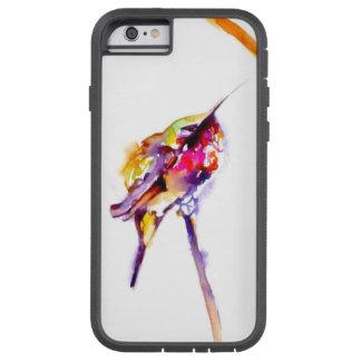 """Impresión del colibrí de la 'perca dos"" encendido Funda Tough Xtreme iPhone 6"