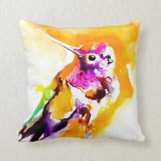 """Impresión del colibrí del """"Gorget magnífico"""" Cojín Decorativo"""