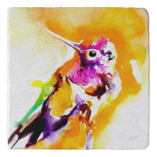 """Impresión del colibrí del """"Gorget magnífico"""" Salvamanteles"""