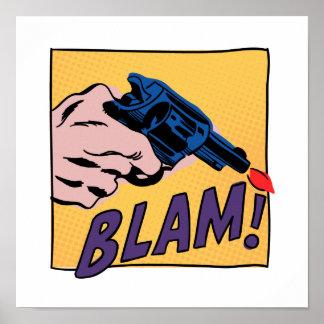 Impresión del cómic de Blam Poster