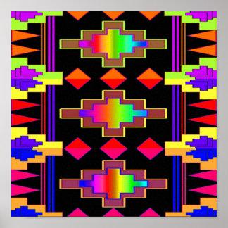 Impresión del diseño de Navajo en lona Póster
