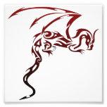 Impresión del dragón arte con fotos
