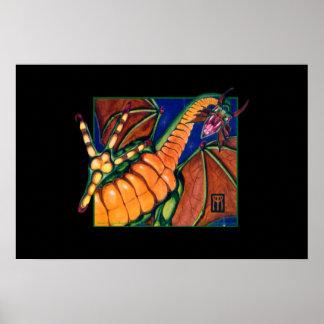 Impresión del dragón de Shivan en negro