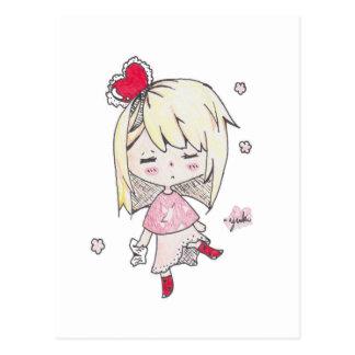 Impresión del el día de San Valentín del chica Postal