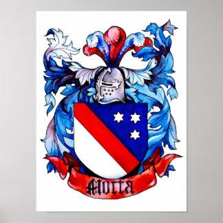 Impresión del escudo de armas de Motta Posters