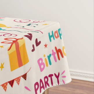 Impresión del fiesta del feliz cumpleaños mantel