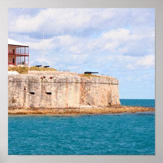 Impresión del fuerte de Bermudas