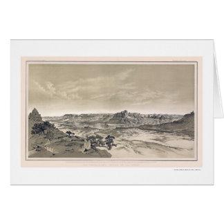 Impresión del Gran Cañón de Virgen por Dutton 1882 Tarjetas