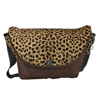 Impresión del guepardo bolsas messenger