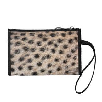 Impresión del guepardo clutch tipo monedero