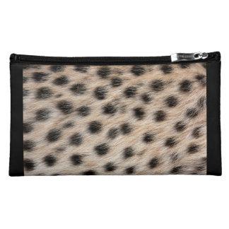 Impresión del guepardo estuche de maquillaje de ante