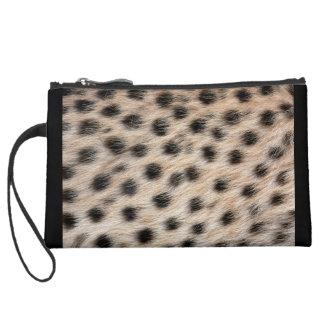 Impresión del guepardo miniclutch de ante