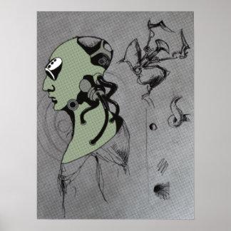 IMPRESIÓN del LUSTRE - dibujo del concepto del Cyb Impresiones