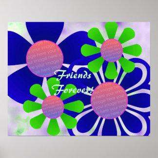 Impresión del marco de la foto de las flores de la impresiones