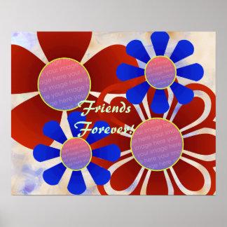 Impresión del marco de la foto de las flores de la poster
