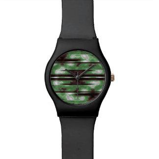 Impresión del modelo de Camo de las rayas Reloj De Pulsera