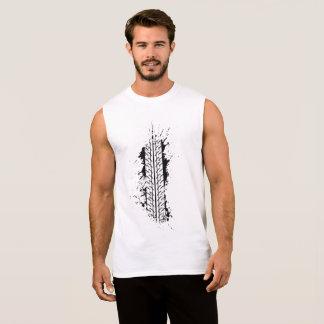 Impresión del neumático camiseta sin mangas