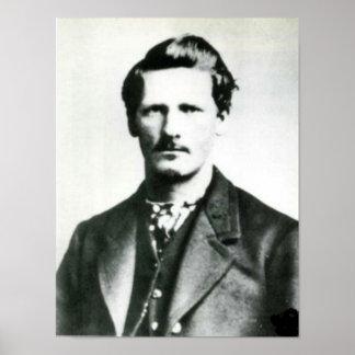 Impresión del oeste vieja de Wyatt Earp Poster