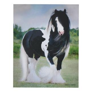 Impresión del panel de pared del caballo de