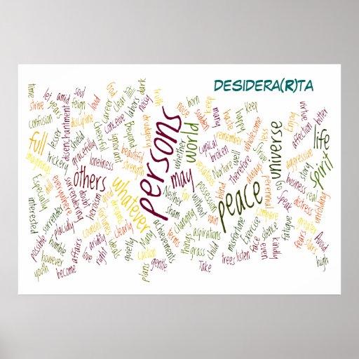 Impresión del poster de Desidera (R) TA