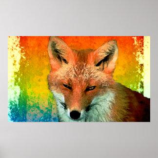 Impresión del poster de la acuarela del Fox