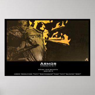 """Impresión del poster de la """"armadura"""""""