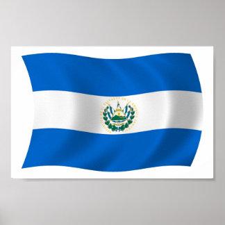 Impresión del poster de la bandera de El Salvador