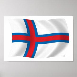 Impresión del poster de la bandera de Faroe Island