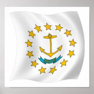 Impresión del poster de la bandera de Rhode Island