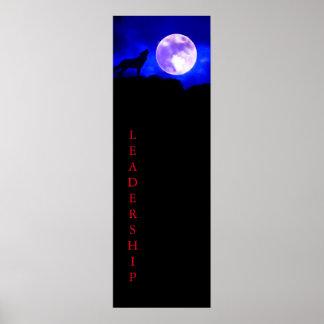 Impresión del poster de la dirección del lobo y de póster