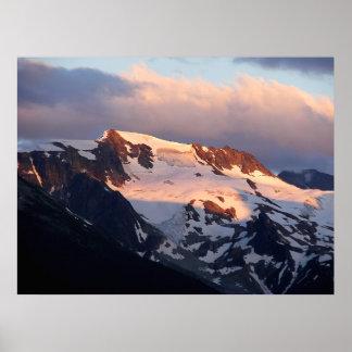 Impresión del poster de la puesta del sol de la