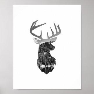 Impresión del poster de los ciervos