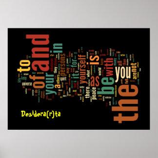 Impresión del poster del arte de la palabra de Des