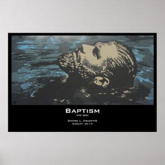 """Impresión del poster del """"bautismo"""""""