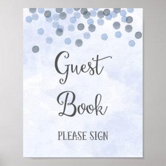 Impresión del poster del boda del libro de visitas
