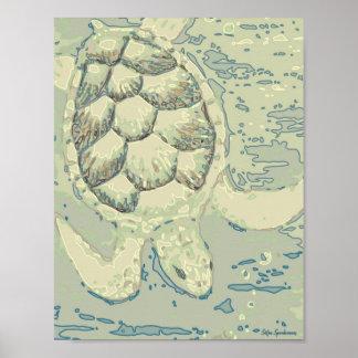 Impresión del poster del Semi-Lustre de la tortuga