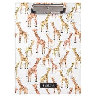 Impresión del safari de la jirafa