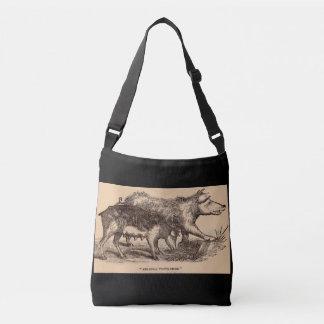 Impresión del siglo XIX de los cerdos del Bolso Cruzado