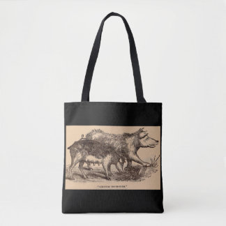 Impresión del siglo XIX de los cerdos del Bolso De Tela