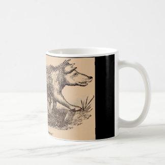 Impresión del siglo XIX de los cerdos del Taza De Café