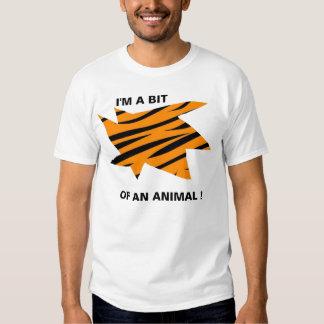 Impresión del tigre camiseta