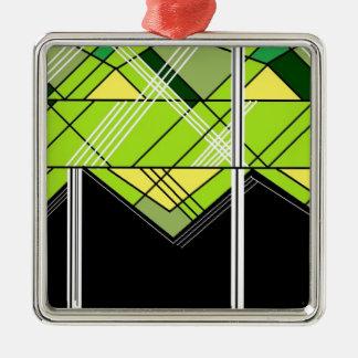 impresión del triángulo ornamento para arbol de navidad