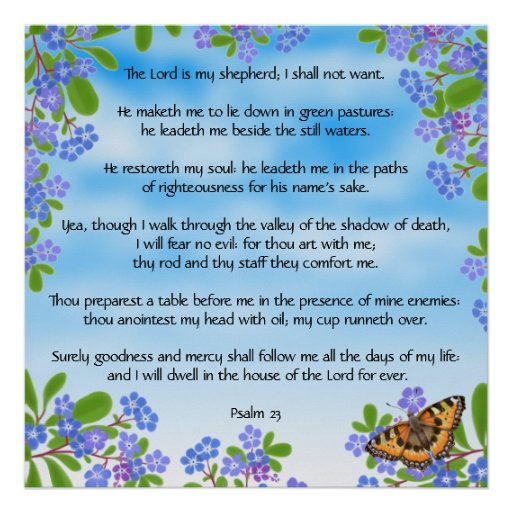Salmo psalm 23 quotes