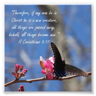 Impresión del verso del 5:17 de los Corinthians de Cojinete